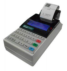 Печать чека на аппарате Меркурий-115Ф