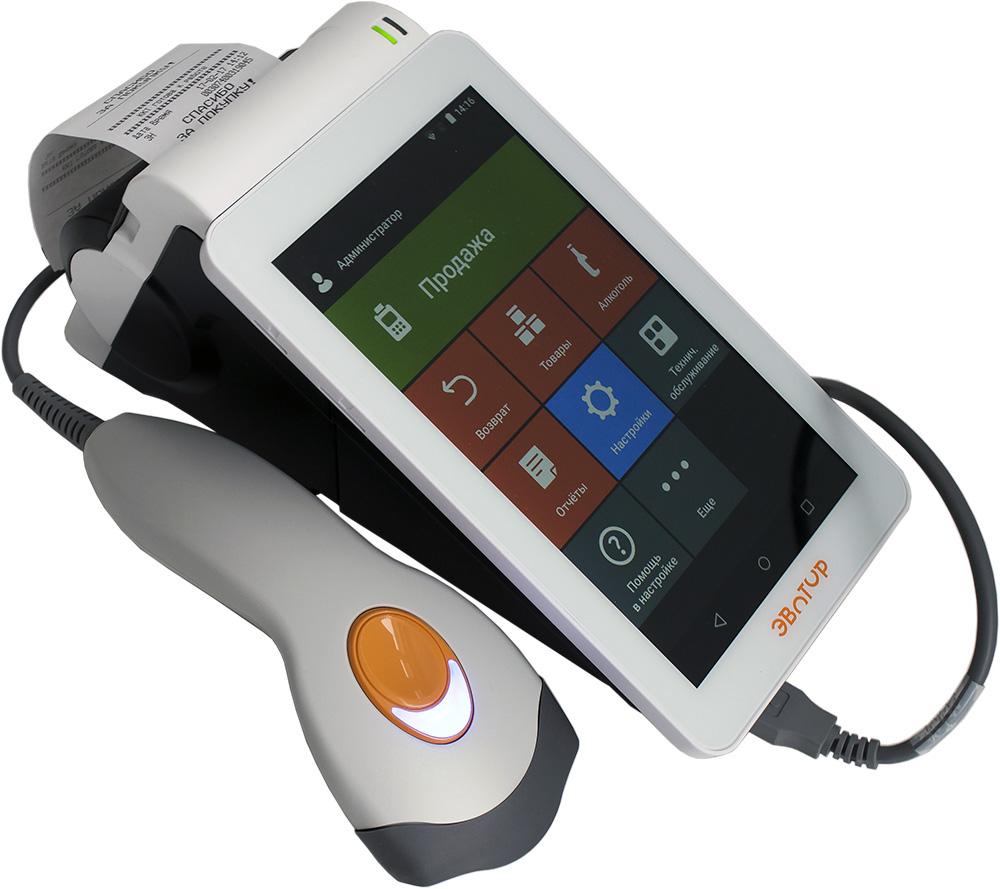 ЭВОТОР СТ2Ф со сканером штрих-кодов