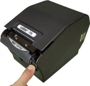 Открытие принтера для замены ленты